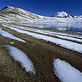 Snow Patterns Near Blue Lake Mt by Harley Betts