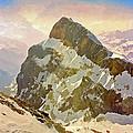 Snow Peaks Of Mount Titlis by Jost Houk