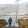 Snow Piles At Alpine Visitor's Center In Rocky Mountain National Park-colorado by Ruth Hager