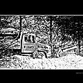 Snow Plow In Black And White by Larry Jost