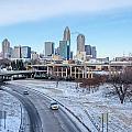 Snow Plowed Public Roads In Charlotte Nc by Alex Grichenko