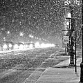 Snow Rush In Black And White by Christina Fixemer