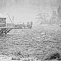Snow Storm In Bass Harbor On Mount Desert Island Maine by Keith Webber Jr