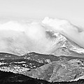 Snow Storm On The Twin Peaks Longs And Meeker by James BO Insogna