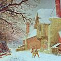 Snowballing At Tiddlington by William W Quatremain