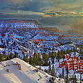 Snowbow During Winter Sunrise Bryce Canyon National Park Utah by Dave Welling