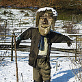 Snowcapped Scarecrow by Anne Gilbert