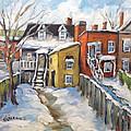 Snowed In Yards By Prankearts by Richard T Pranke