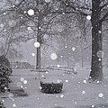 Snowfall On Ayers by Vickie Roy-Sneddon