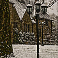 Snowing At Stokesay Castle by Trish Tritz