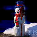 Snowman By George Wood by Karen Adams