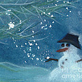 Snowman By Jrr by First Star Art