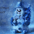 Snowman Christmas Cheer Photo Art 01 by Thomas Woolworth