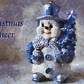 Snowman Christmas Cheer Photo Art 02 by Thomas Woolworth
