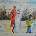 Snowman Competition by Geeta Biswas