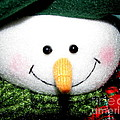 Snowman Decoration Closeup by Rose Santuci-Sofranko