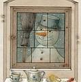 Snowman by Kestutis Kasparavicius