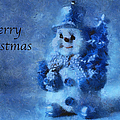 Snowman Merry Christmas Photo Art 01 by Thomas Woolworth