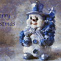 Snowman Merry Christmas Photo Art 02 by Thomas Woolworth