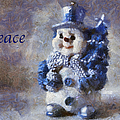 Snowman Peace Photo Art 01 by Thomas Woolworth