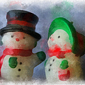 Snowman Photo Art 09 by Thomas Woolworth
