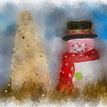 Snowman Photo Art 13 by Thomas Woolworth