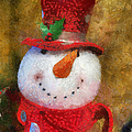 Snowman Photo Art 19 by Thomas Woolworth