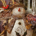 Snowman Photo Art 30 by Thomas Woolworth