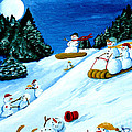 Snowmans Winter Sports by Anthony Dunphy