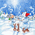Snowmen And Christmas Star by Peggy Wilson