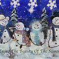 Snowmen Enjoy The Beauty Photo Art by Thomas Woolworth