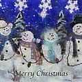 Snowmen Merry Christmas Photo Art by Thomas Woolworth