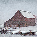 Snowstorm At The Ranch 2 by Priscilla Burgers