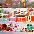 Snowstorm Helpers Montreal Memories by Michael Litvack