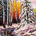 Snowy Banks by David G Paul