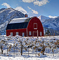 Snowy Barn In The Mountains - Utah by Gary Whitton