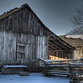 Snowy Barn by Jane Linders