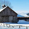 Snowy Barn by Linda Kerkau