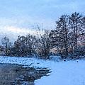 Snowy Beach Impressions by Georgia Mizuleva