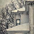 Snowy Brick House by Jill Battaglia