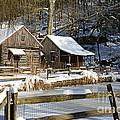 Snowy Cabins by Paul Ward