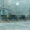 Snowy Carriages by Steven Schultz