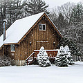Snowy Country Cottage by Anthony Thomas