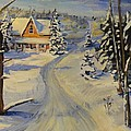 Snowy Country Road by Brent Arlitt