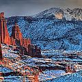 Snowy Fisher Towers by Adam Jewell