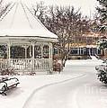 Snowy Gazebo At Windom Park Color by Kari Yearous