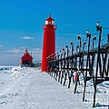 Snowy Grand Haven Pier by Nick Zelinsky
