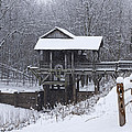 New Salem Grist Mill In The Snow Clr by Eric Mace