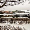 Snowy Landscape At Symphony Park Charlotte North Carolina by Alex Grichenko