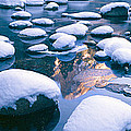 Snowy Merced River With Reflection by Panoramic Images